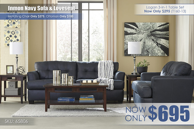 Inmon Navy Living Set 65806-38-35-T160
