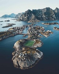 Sustainable environment ~ Henningsvær, Norway. Photo by @lennart...