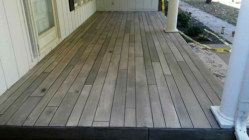 Grey Concrete Wood Porch- Durham, NC
