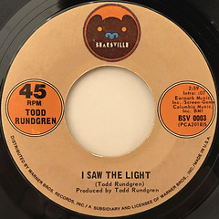TODD RUNDGREN:I SAW THE LIGHT(LABEL SIDE-A)