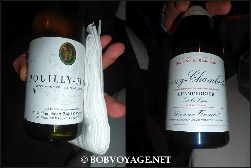 Michel et David Bailly Pouilly Fume, Loire 2015 and Domaine Tortochot Gevrey-Chambertin Champerrier Vieilles Vignes 2014 at L'ortolan