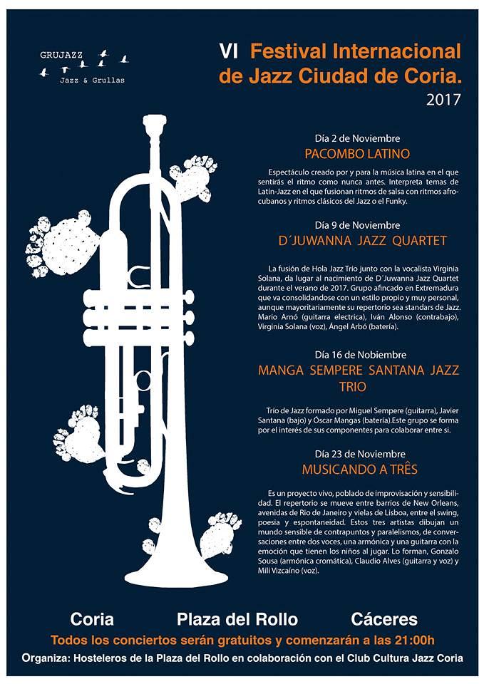 """Hoy comienza el VI Festival Internacional de Jazz de Coria """"Jazz&Grullas"""""""