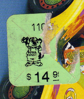 TEENAGE MUTANT NINJA TURTLES :: MIKE'S KOWABUNGA SURF BUGGY ..box, 'PETER PANDA' CHILDREN'S PALACE price tag (( 1991 ))