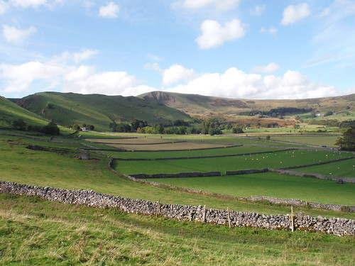 Winnats Pass and Mam Tor from Path by Goosehill Hall, Castleton