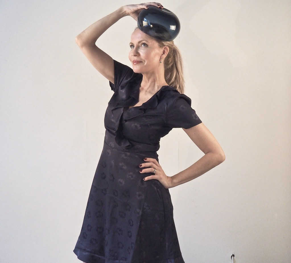 Floral Jacquard Dress by Oasis Finland