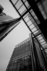 Looking up in Canary Wharf