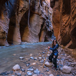 Dana in The Narrows ...