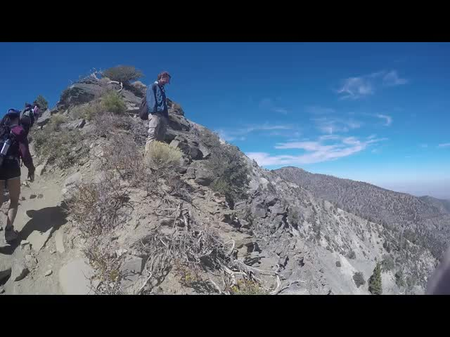 271 GoPro video panorama showing the exposure on the Devils Backbone Trail