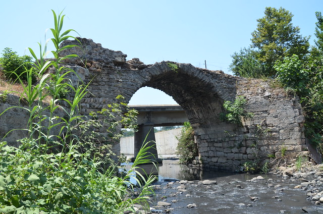 The stone bridge over the Pinarus river, now known as Payas and Deli Çay, Hatay, Turkey