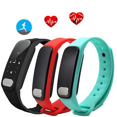 R11 0.96inch Heart Rate Blood Pressure Monitor Pedometer Bluetooth Smart Bracelet For iOS Android (1199995) #Banggood