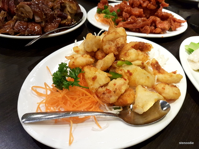 Deep Fried Spicy Mixed Seafood
