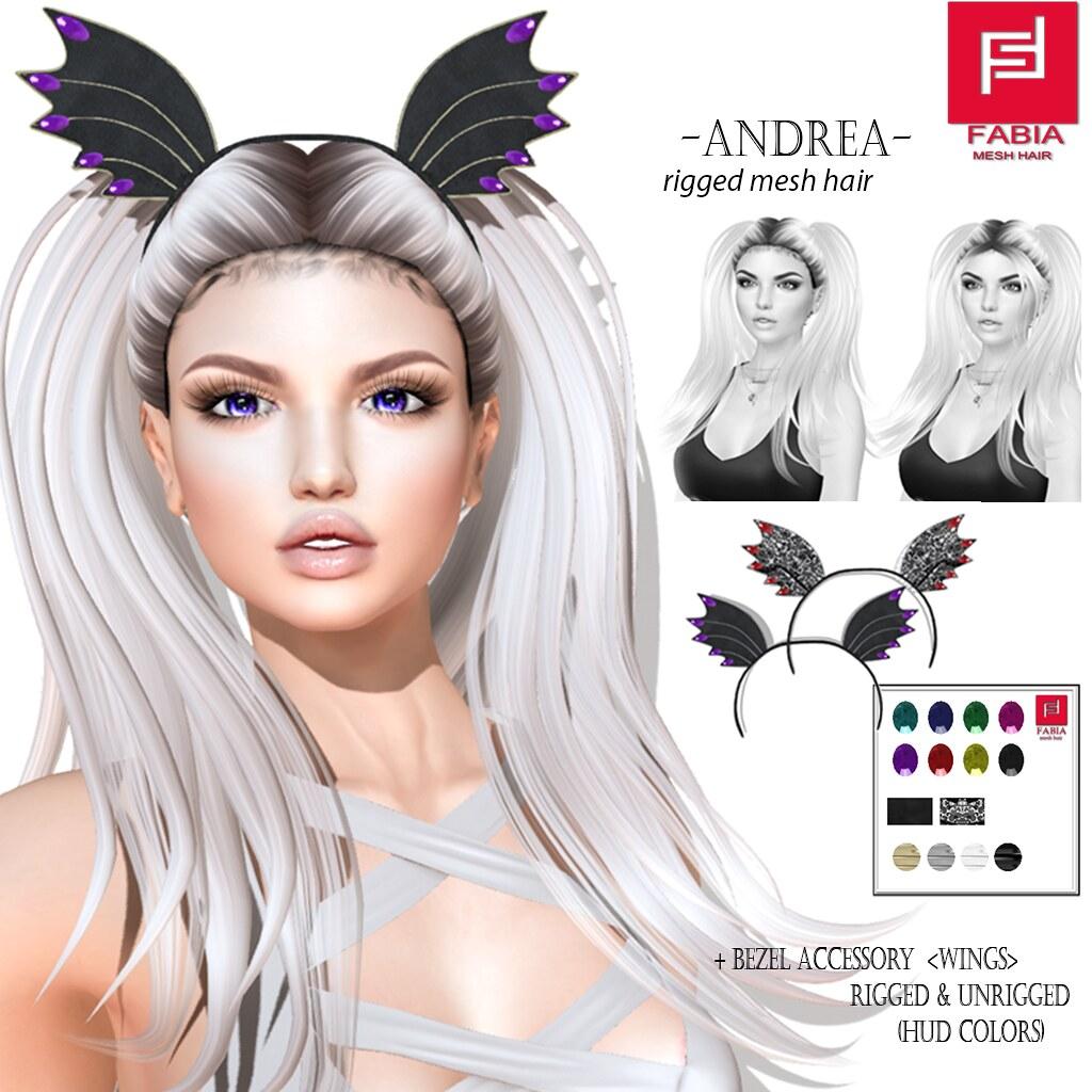 -FABIA- Mesh Hair  < Andrea> - TeleportHub.com Live!