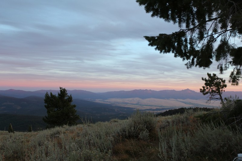 Our third sunset on Dixie Butte - tomorrow morning would be the Solar Eclipse