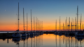 Sunset Marina Herkingen | by BraCom (Bram)