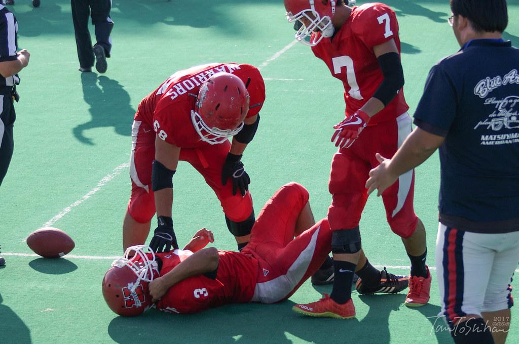 中四国学生アメリカンフットボール 2017 島根大ー広島大
