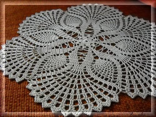 crochet, doily, ananas (3)