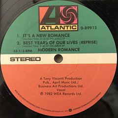 MODERN ROMANCE:BEST YEARS OF OUR LIVES(LABEL SIDE-B)
