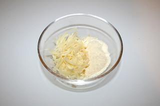 03 - Zutat Edamer & Parmesan / Ingredient edamer & parmesan cheese