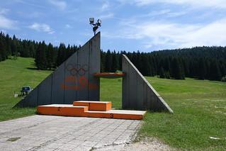 Sarajevo Winter Olympics ski jump medal podium