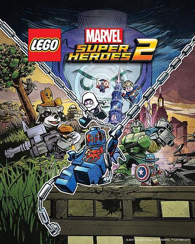 Lego Marvel Super Heroes 2 Artystyczny plakat