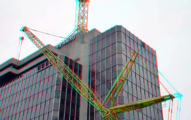 Bouwkranen ABN Rotterdam 3D