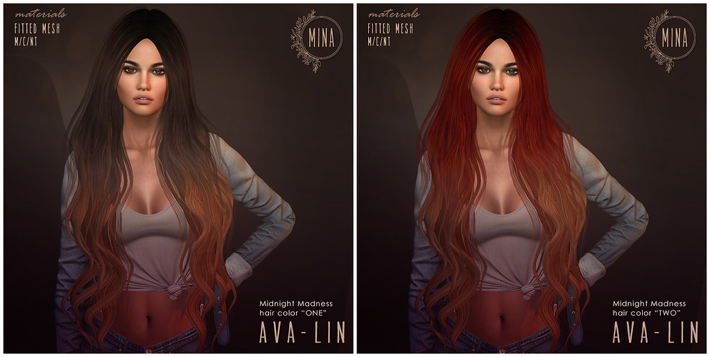 MINA Hair – Ava-Lin for Midnight Madness - TeleportHub.com Live!