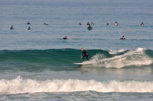 Bonitas olas hoy a la mañana en la playa de Zarautz