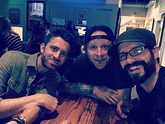 Via Zach: sometimes you're just all in the same place. Fun night with the amazing @luccadoes & @bjamesfotos in Chucktown #zachmyers #shinedown