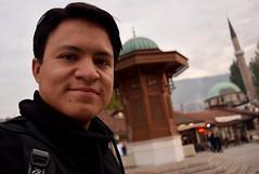 Selfie at the Sebilj Fountain, Sarajevo