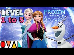Frozen Free Fall Icy Shot Game Level 1 to 5 Frozen Movie Gameplay OVAL