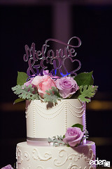 Buttercream wedding cake with fresh florals