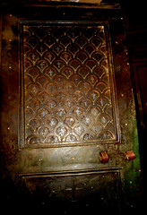 Bronze door with silver crosses (461-468) - Saint John the Baptist chapel at baptistery of the Lateran in Rome