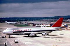 N607US   Boeing 747-151 [19784] (Northwest Orient) Gatwick~G 16/05/1981