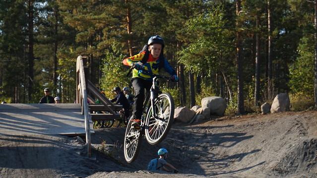 Junnupyöräilyn retki Lammassaareen 24.9.2017