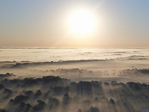 littlewashington sunrise drone fog air n