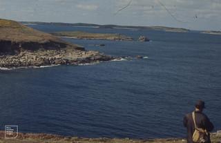 Dickie Blair near Deep Point, East St Mary's. April 1973