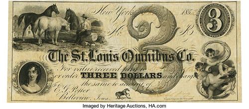St. Louis Omnibus Co. $3 Note