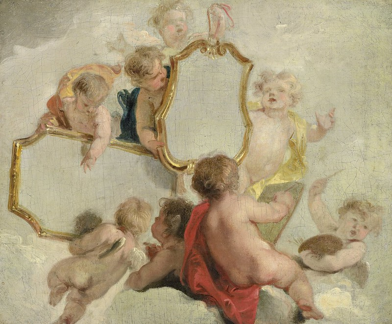 Jacob de Wit - Putti met spiegels