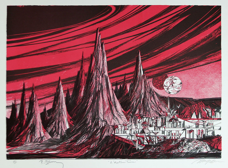 Joseph Mugnaini - A Martian Town,  1981