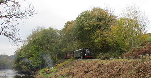Steam In The Banwy Valley