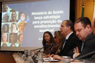 Ministério da Saúde lança estratégia nacional para aumentar a qualidade de vida da população idosa. Brasília, 06/11/2017.