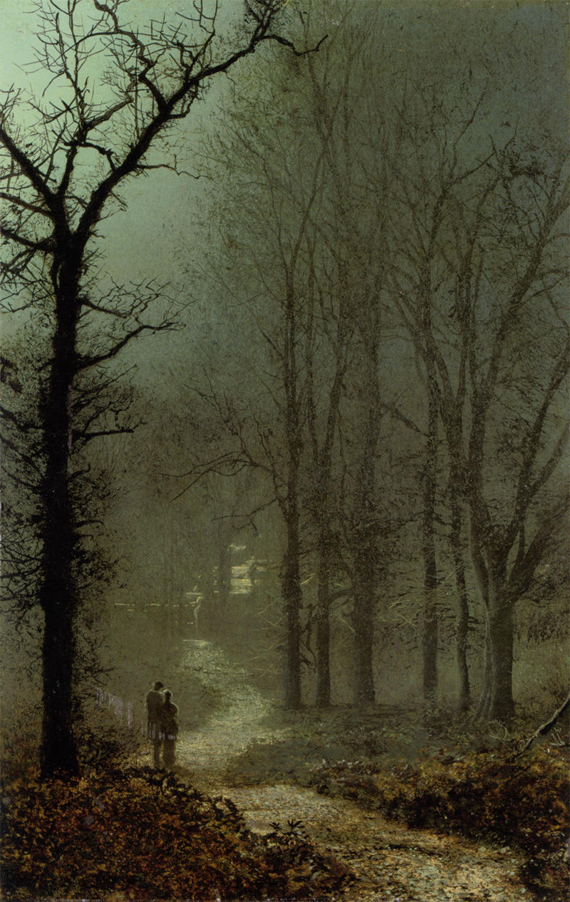 Lovers in a Wood by John Atkinson Grimshaw, 1873