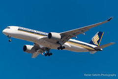Singapore Airlines, A350, 9V-SMC, Cape Town International, 13 Oct 2017