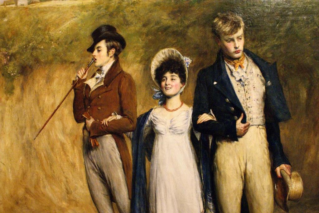 """""""Two strings to our bow"""" (1887) de John Pettie. Presque ménage à trois au musée Kelvingrove de Glasgow."""