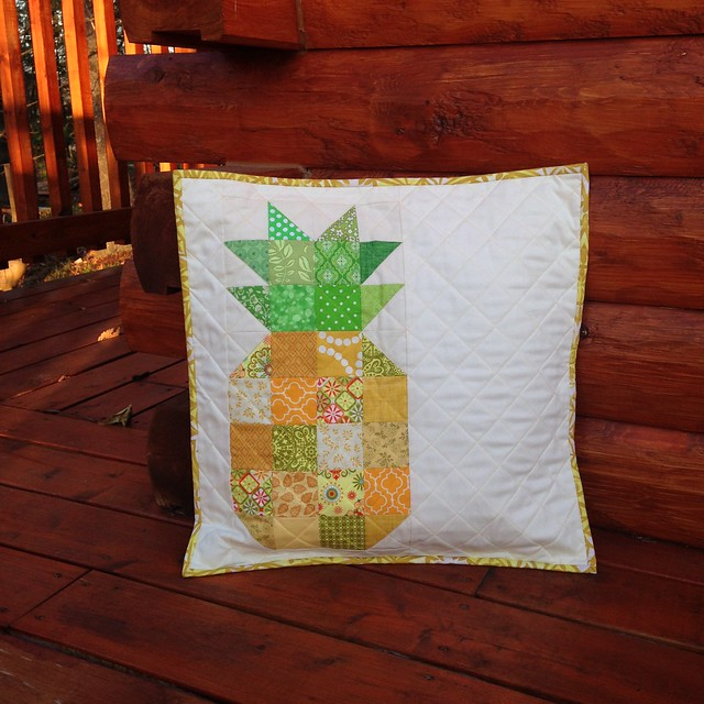 Patchwork Pineapple Pillow for a friend