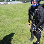 All smiles from female skydiver and instructor Casey Magyar