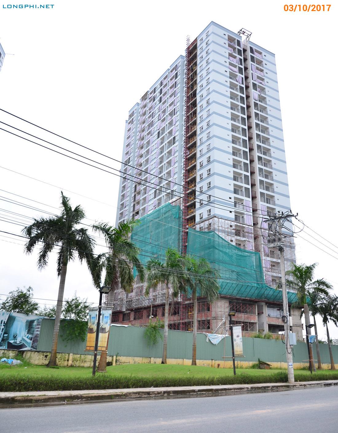 Mặt trong tháp Bắc M1 Jamona Apartment - Luxury Home nhìn từ đường Đào Trí.
