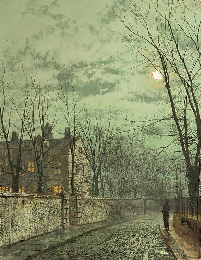 Under the Moonbeams by John Atkinson Grimshaw, 1887