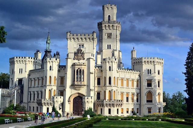Hluboká Castle after rain