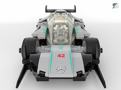 Mercedes AMG F1 W14 Speed Champions digital moc